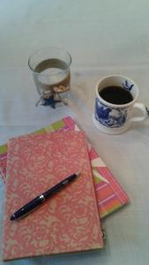 writing with tea