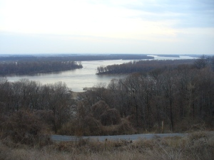 overlooking Mississippi and Illinois Rivers