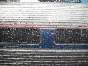 Amtrak in the rain