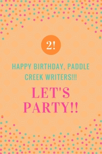 happy birthday, paddle creek writers graphic