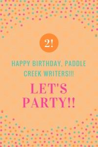happy birthday, paddle creek writers graphic