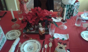 lovely decorated Christmas table